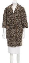 Thakoon Leopard Print Wool-Blend Coat