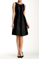 Eva Franco Stripe Paneled Sleeveless Dress