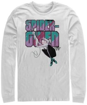Marvel Men's Spider-Man Into the Spider-Verse Spider-gwen Swinging, Long Sleeve T-shirt