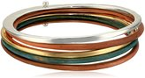 Robert Lee Morris Color Gestures Mixed Colored and Two Tone Bangle Bracelet
