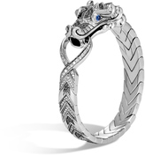 John Hardy Men's Legends Naga Station Bracelet in Sterling Silver, Grey Diamond, Pave Grey Diamond (1.41ct)