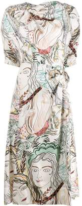 3.1 Phillip Lim printed ruched midi dress