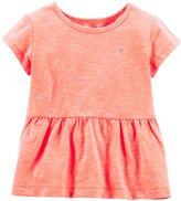 Carter's Slub Jersey Tee (Toddler/Kid) - Orange-6