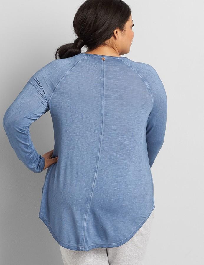 Thumbnail for your product : Lane Bryant LIVI Washed Slub Tunic Top