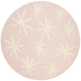 Harriet Bee Claro Abstract Handmade Tufted Wool Pink Area Rug Rug Size: Rectangle 3' x 5'