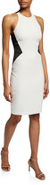Halston Sleeveless Halter-Neck Dress with Strap Detail