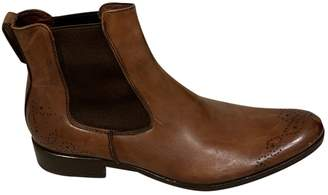 Canali Brown Leather Boots