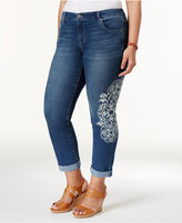 Style&Co. Style & Co Plus Size Curvy Printed Boyfriend Jeans, Created for Macy's