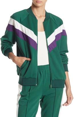 re:named apparel Jenna Stripe Track Jacket