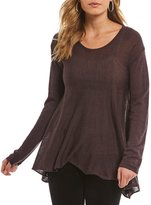 Chelsea & Violet Hi Low Long Sleeve Knit Top