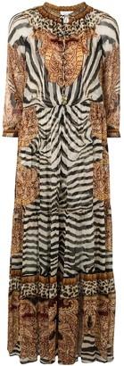 Camilla Long Gathered Panelled Dress