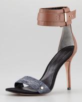 Rachel Roy Osana Snake Ankle-Wrap Sandal