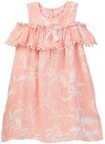 Jessica Simpson Printed Woven Novelty Trimmed Dress (Toddler & Little Girls)