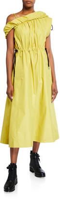 3.1 Phillip Lim Cold-Shoulder Parachute Utility Dress