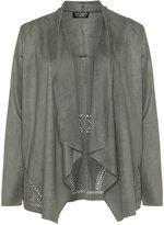Via Appia Plus Size Laser cut faux leather jacket