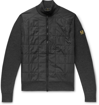 Belstaff New Kelby Slim-Fit Panelled Wool And Quilted Shell Zip-Up Cardigan