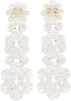 Simone Rocha Transparent Perspex Three Tier Drop Earrings