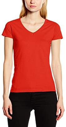 Fruit of the Loom Women's V-Neck Valueweight T-Shirt, (Manufacturer Size:)
