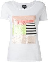 Armani Jeans sequins T-shirts - women - Cotton/Spandex/Elastane/Sequin - 44