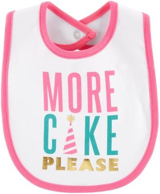 "Carter's Baby Girl More Cake Please"" Graphic Bib"