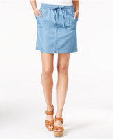 Tommy Hilfiger Drawstring Denim Skirt, Only at Macy's