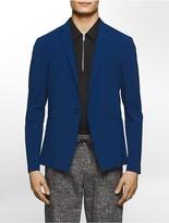 Calvin Klein Platinum Slim Fit Stretch Crinkle Texture One-Button Jacket
