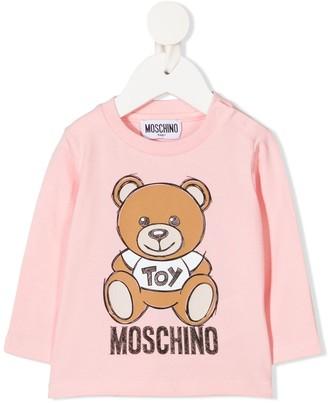 MOSCHINO BAMBINO Teddy Bear-print long-sleeved T-shirt