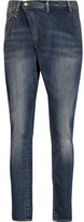 R 13 X-Over Mid-Rise Skinny Jeans