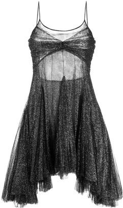 Philosophy di Lorenzo Serafini shimmer high low dress