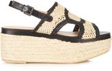 Robert Clergerie Antic raffia and leather flatform sandals