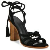 Joie Banji Lace-Up Suede Block Heel Sandals
