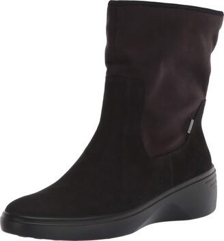 Ecco Soft 7 Wedge BlackBlack MoonTextile Women's Classic Ankle Boot