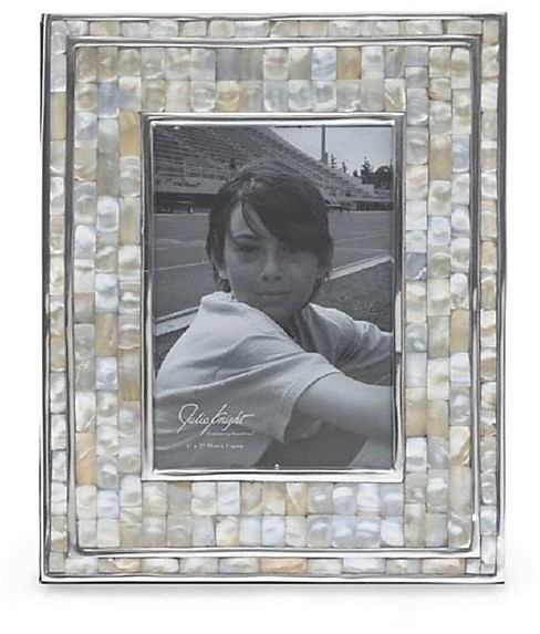 "Julia Knight Classic Mother of Pearl Frame, 5"" x 7"""