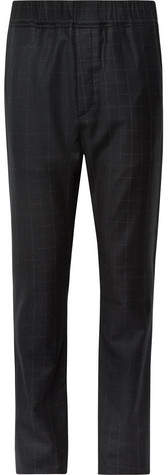 Bottega Veneta Charcoal Slim-Fit Windowpane-Checked Wool Suit Trousers