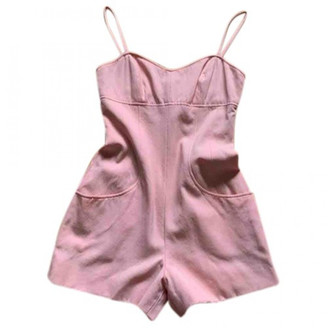 Chanel Pink Cotton Jumpsuits