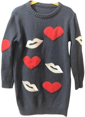 MSGM Blue Wool Knitwear