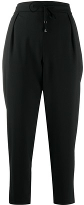 Fay High-Waisted Crop Trousers