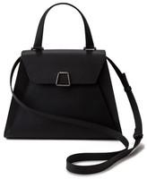 Akris Alba Top Handle Leather Satchel - Black