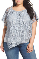 Democracy Lace Overlay Top (Plus Size)