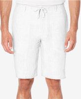 "Perry Ellis Men's Drawstring Linen 11"" Shorts"
