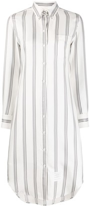 Thom Browne Stripe-Pattern Shirt Dress