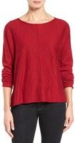 Eileen Fisher Petite Women's Organic Linen & Cotton Top