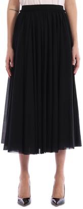 Jil Sander Black Pleated Skirt