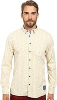 Moods of Norway Men's Anders Vik Long Collar Shirt 151067 Off White Button-up Shirt