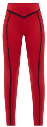 Ernest Leoty Corset High-rise Leggings - Red Multi