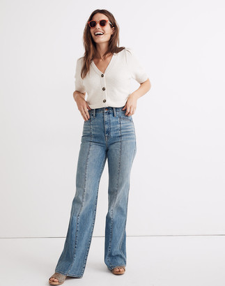 """Madewell 11"""" High-Rise Flare Jeans in Annapolis Wash: Seamed Edition"""