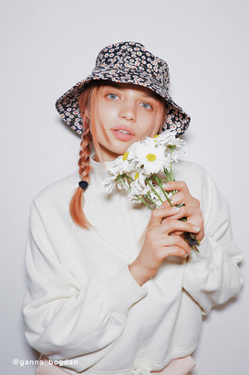 Urban Outfitters Fleur Slit Rim Bucket Hat