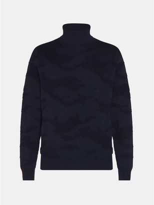Tommy Hilfiger Organic Cotton And Wool Camo Turtleneck