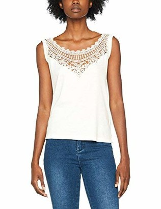 Diesel Women's T-Meadow Top Sleeveless T - Shirt White (129 Grey 0Jaov) Small