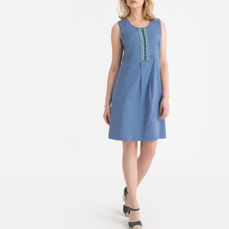 Anne Weyburn Beaded Cotton Shift Dress